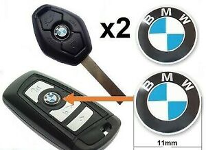 Bmw Key Fob Replacement >> Details About 2 X 11mm Bmw Replacement Key Fob Badge Sticker