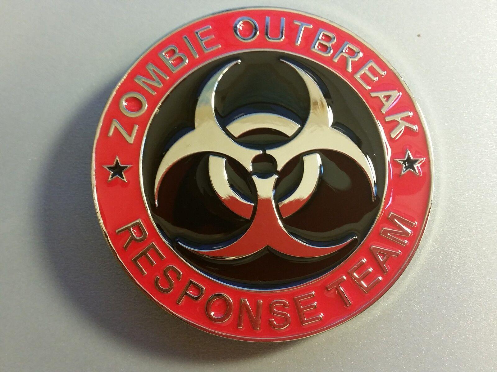 Zombie Outbreak Response Team Belt Buckle Biohazard cosplay collectible USseller