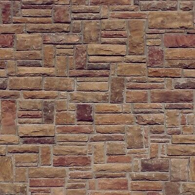 10 SHEETS EMBOSSED BUMPY BRICK stone wall 21x29cm SCALE 1/12 CODE 2900F