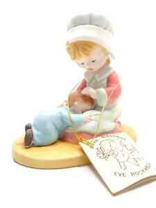 VINTAGE EVE ROCKWELL BISQUE PORCELAIN FIGURINE MOTHER & CHILD LOVE ONE ANOTHER
