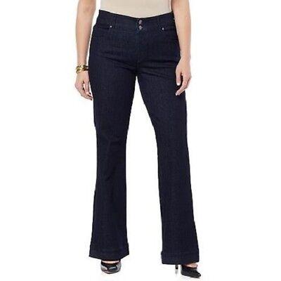 3c5f1bc5423 CJ by Cookie Johnson Women s Believe Foundation Flare Jeans Plus Size Dark  Wash