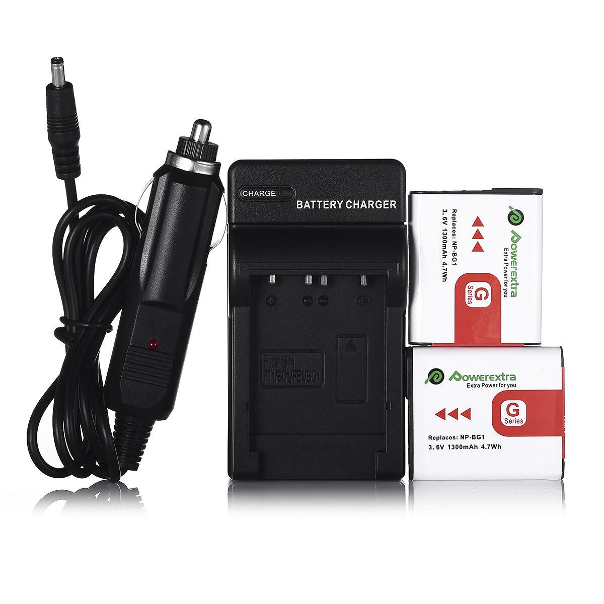 Cargador 2x Batería Para Sony NP-BG1 FG1 DSC-H10 H20 H3 H50 H55 H7 H9 HX5 HX5V