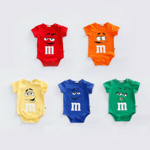 NEW-BABY-BOY-GIRL-SUMMER-FUNNY-M-BEANS-ROMPER-NEWBORN-TODDLE-BABYGROWS-PLAYSUITS
