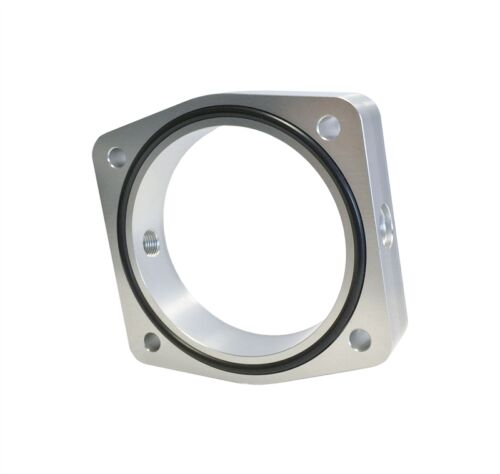 Torque Solution Throttle Body Spacer Silver Fits Nissan Infiniti VQ35DE Engine