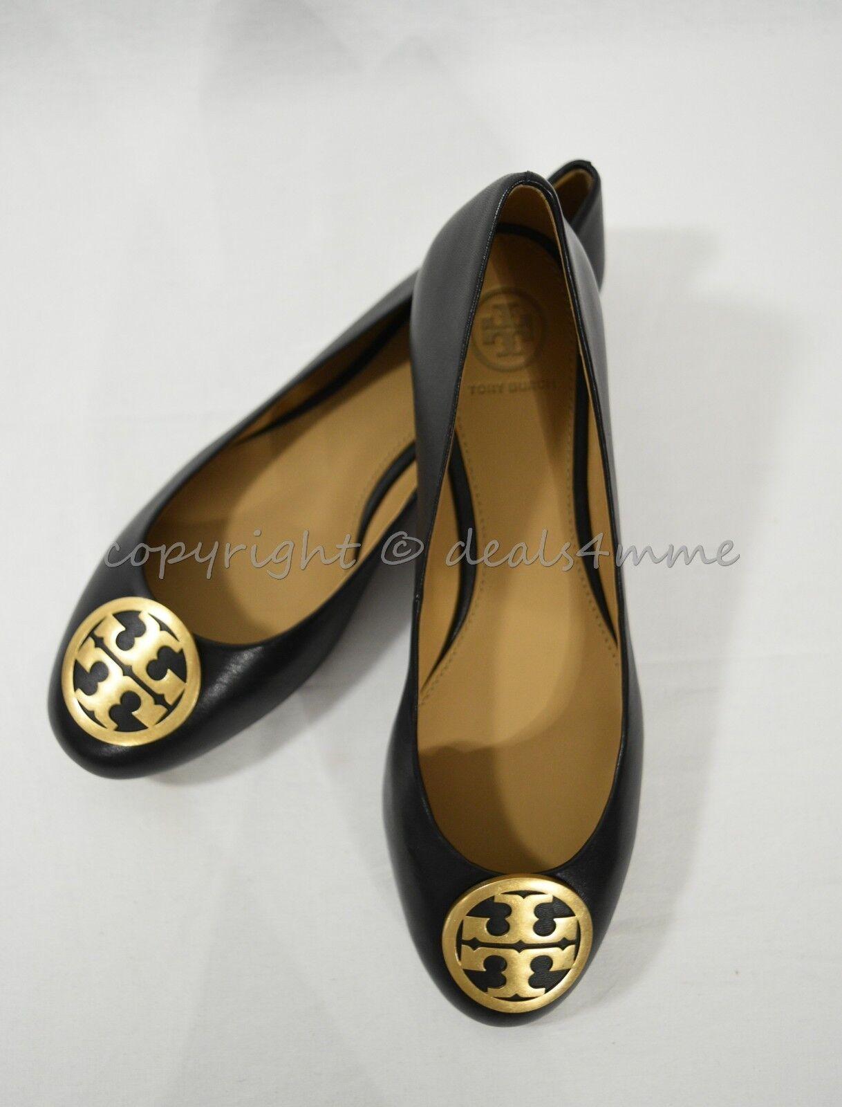Nuevo En En En Caja 52785 Estilo Tory Burch Zapatos Planos Ballet Benton pisos en Negro de Cuero Napa  A la venta con descuento del 70%.