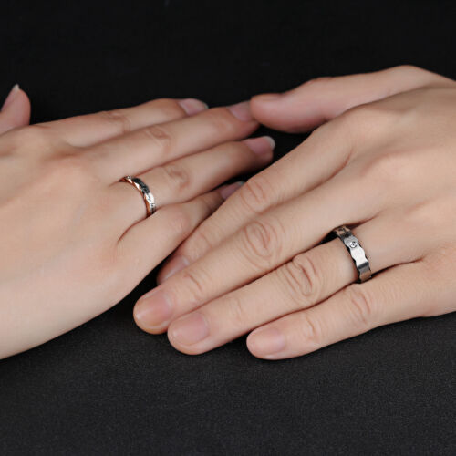 "Couple/'s Matching Promise Ring /""Will always be with you/"" His or Her Wedding Band"