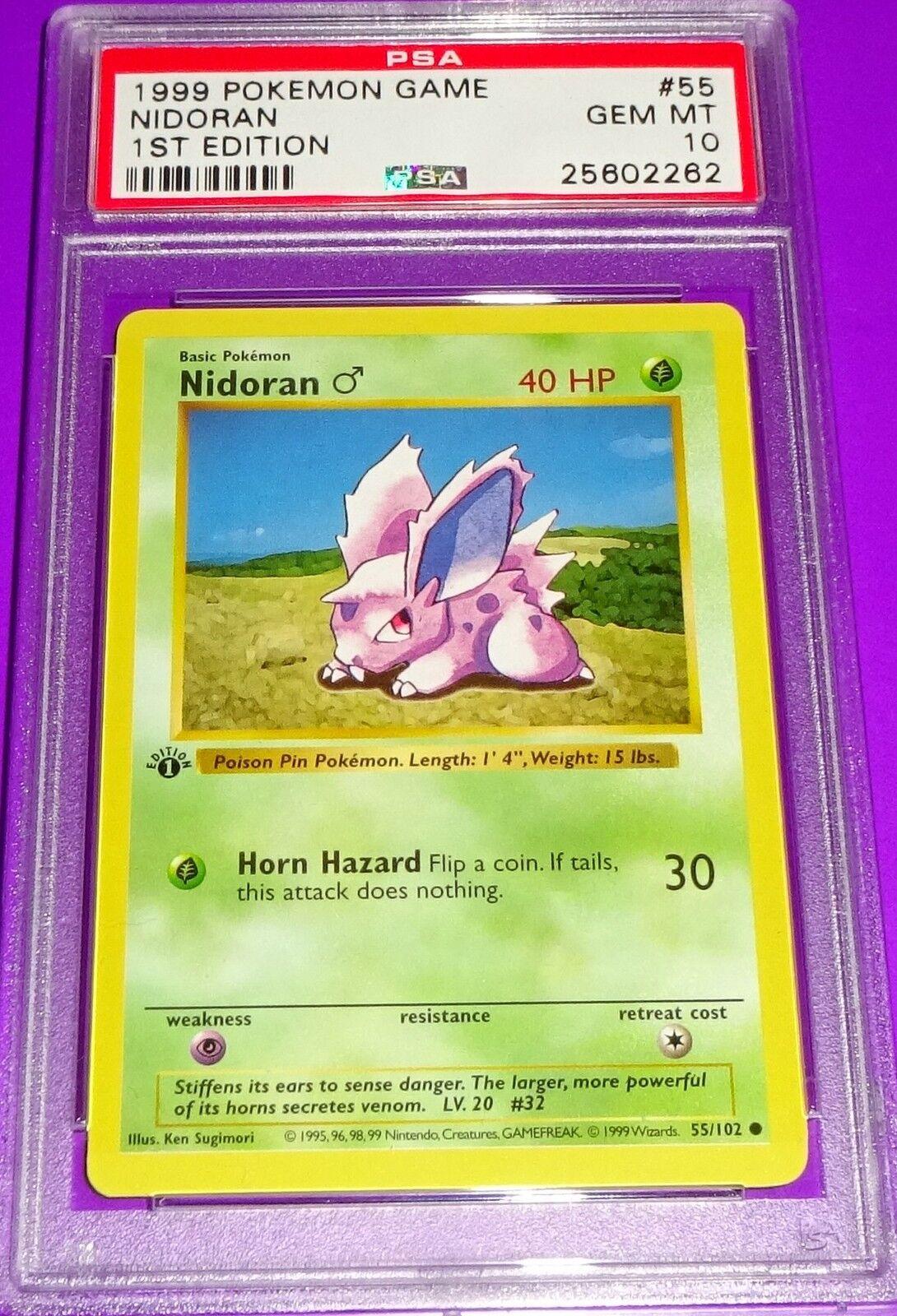 Pokémon nidoran 1. ed basis psa - 10