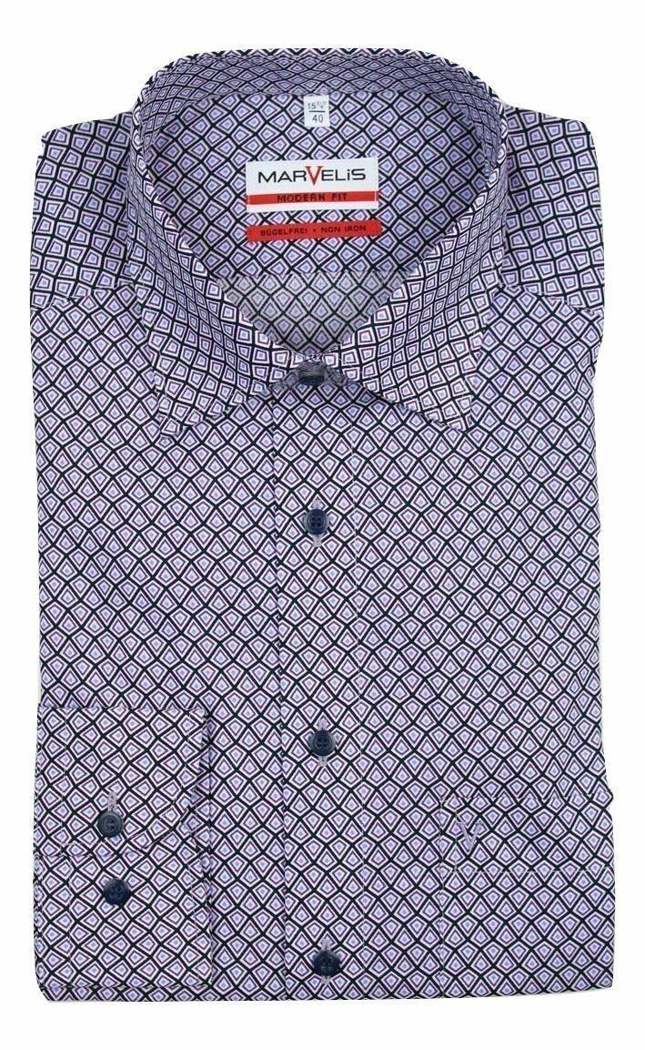 Violet Mix Print Spread Collar