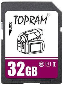 TOPRAM-32GB-SD-USH-U1-class10-C10-32G-SDHC-3-0-secure-digital-memory-card-bulk