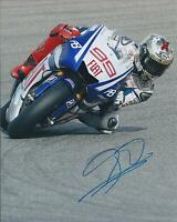 Jorge Lorenzo SIGNED MotoGP Champion Race Winner YAMAHA 10x8 Photo AFTAL