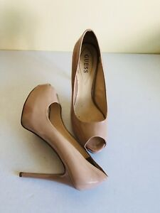 GUESS Women's 'Patches' Nude Patent