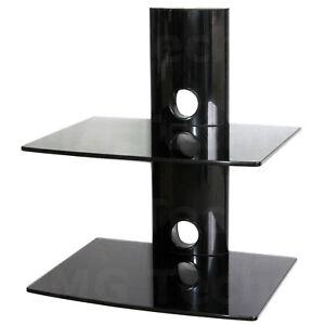 media player konsole regal anlagetr ger zwei glasplatten. Black Bedroom Furniture Sets. Home Design Ideas