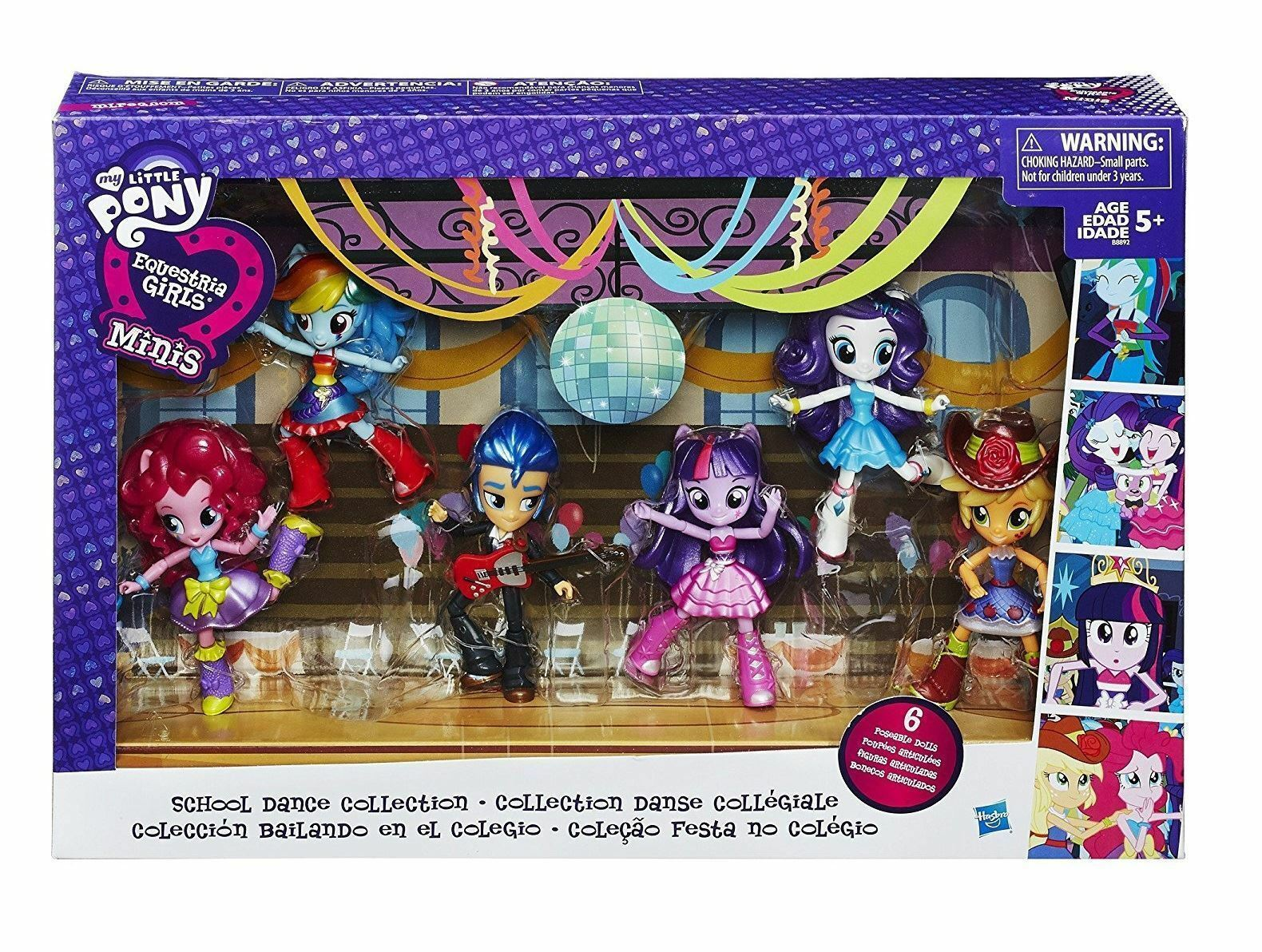 My Little Pony Equestria Girls Dolls Minis School Dance Collection Playset MLP