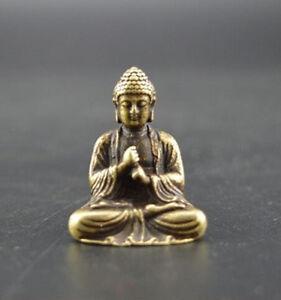 China-039-s-pure-brass-sakyamuni-Buddha-small-statue