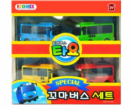 NEW TAYO the Little Bus Special 4 Cars Set Toy Children/'s toys Kids Gift