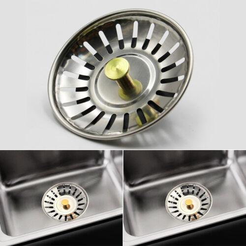 Stainless Steel Kitchen Sink Strainer Waste Plug Drain Stopper Filter Basket Hot