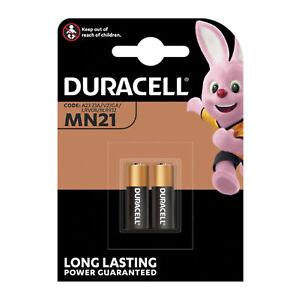 2-X-Duracell-mn21-a23-12v-Alkaline-Batterien-23a-lrv08-k23a-e23a-v23ga-12-Volt