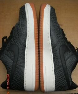 Nike Air Force 1 Trainers Black Grey