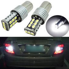 2pcs Error Free White 7506 1156 P21W LED Bulbs For Euro Car Backup Reverse Light