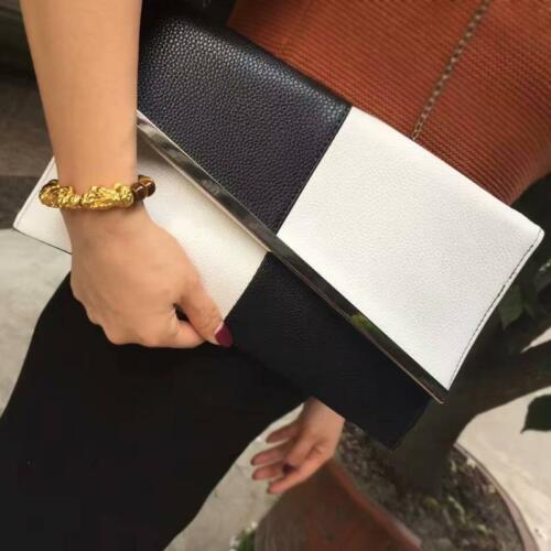 Women Envelope Clutch Bag Black White Envelope Bag Large Capacity Party Clutch