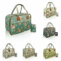 Ladies Floral Flower Maternity Overnight Nappy Bag Travel Hand Luggage & Purse