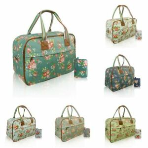 Women s Floral Overnight Bag   Purse Women Hand Weekend Luggage ... 176652c766