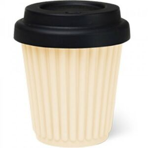 Byo Silicone Reusable Travel Coffee Cup Mug 230ml 8 Oz In Lemon