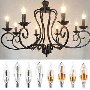 Led candle lights bulbs mini led lamps for chandelier ceiling light image is loading led candle lights bulbs mini led lamps for mozeypictures Image collections