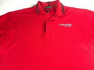 Gardner-Webb-Polo-Shirt-Mens-Large-Red-Student-Alumni-University-Cotton-Golf
