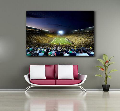 Canvas or Gloss The Big House Michigan Football Stadium Panoramic Print