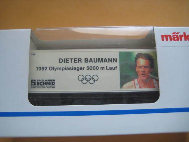 Marklin H0 4481-96712 Dieter Baumann  Olympic Athlete - 5000 m Box Car - LNIB