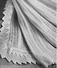 Vintage Knitting pattern-how to make feather & fan lace baby christening shawl