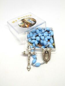 Our Lady of Lourdes Rosary Beads with Holy Water from Lourdes in Center
