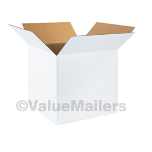 25 NEW White 4x4x4 Packing Shipping Boxes Cartons