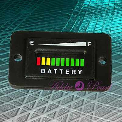 12-24 Volt Battery Charge Indicator Rectangular