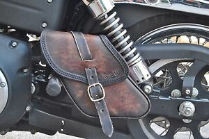 Image Is Loading Swing Arm Bag Saddle For Hd Dyna