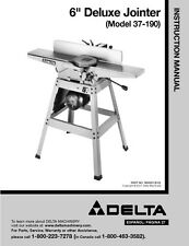 Delta  Deluxe Jointer Instruction Manual