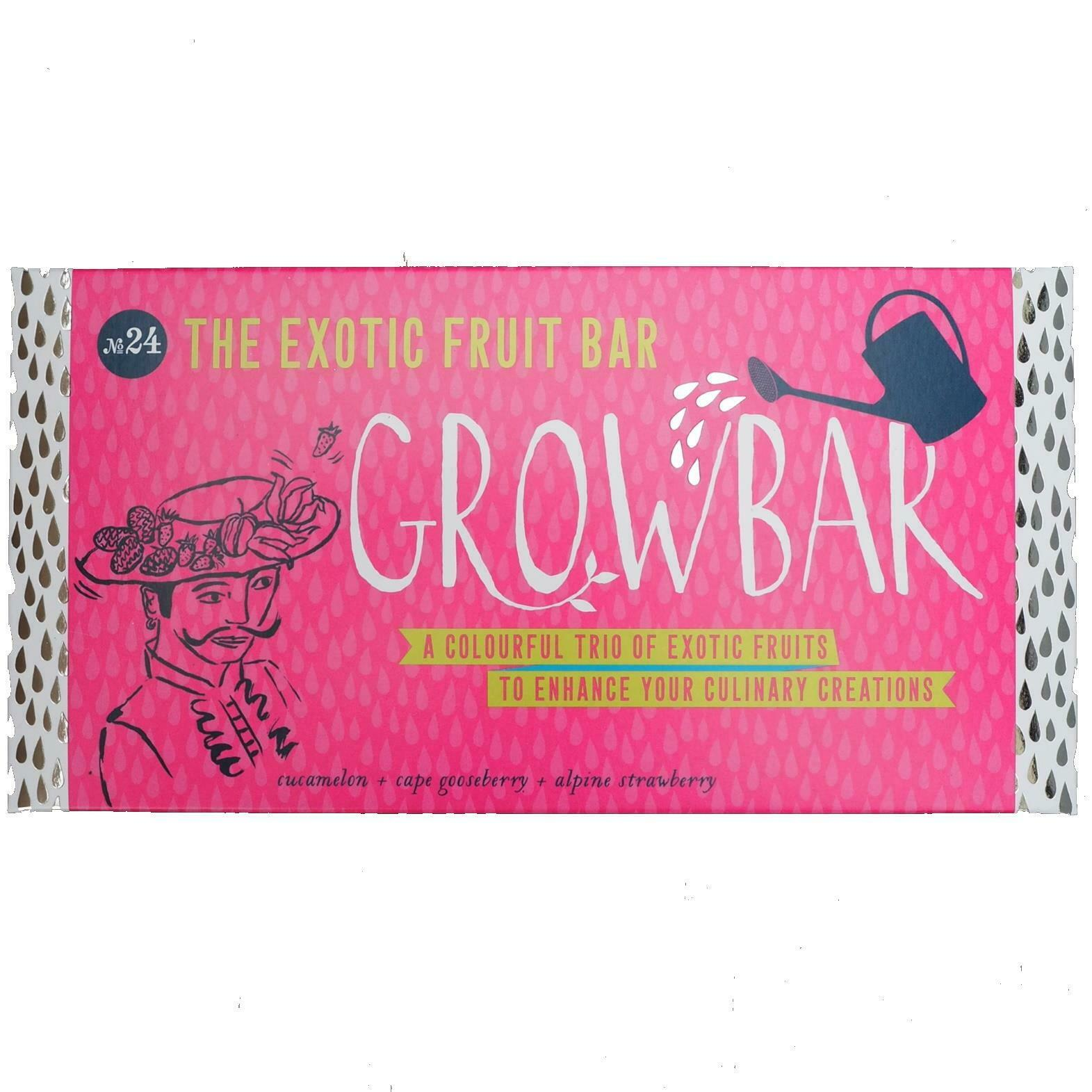 Exotic Fruit Growbar Grow Your Own Seeds Quirky Plant Kit Gardening Gift No.24