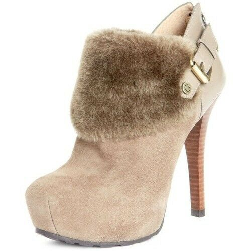 NW GUESS faux fur cuff booties Shoes