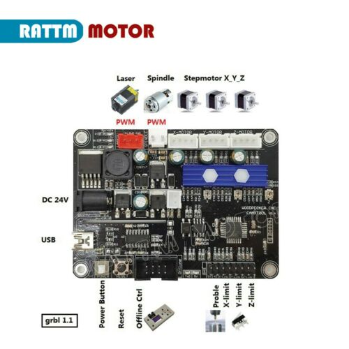 【In EU】USB Port GRBL 3-Axis 1.1F CNC Engraving Mill Machine Laser Control Board