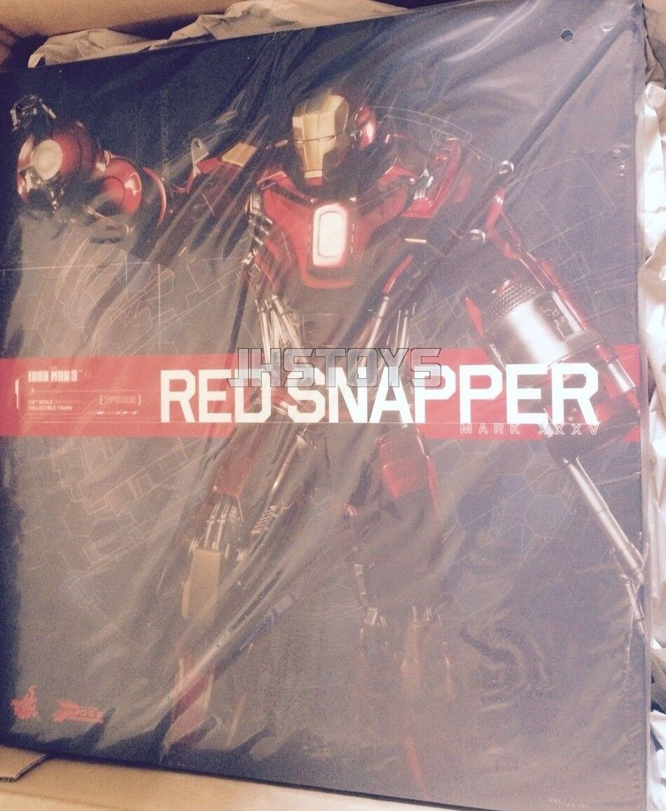 Hot Toys Power Pose 1 6 Iron Man 3 Mark 35 XXXV Red Snapper PPS002