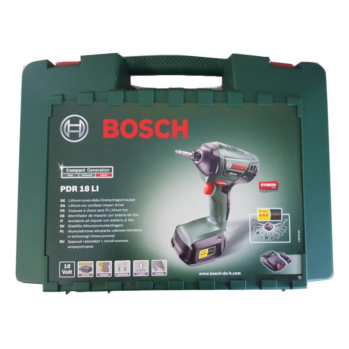 Bosch PDR 18 LI Akku-Drehschlagschrauber 18V 1x Akku, inkl. Koffer 0603980300