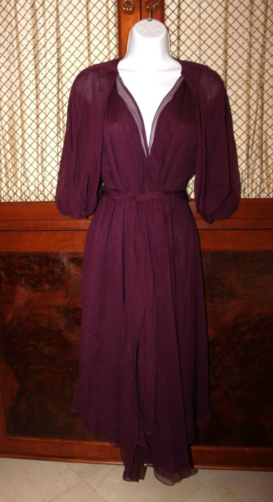 J.  Mendel Seda Vestido Talla 10  Para tu estilo de juego a los precios más baratos.