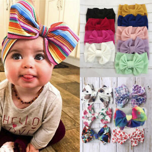 Baby-Cute-Girls-Hair-Ball-Fashion-Headband-Elastic-Big-Bow-Design-Hair-Band
