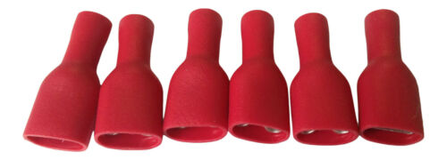 Red Fully Insulated Female electrical wire cable 12v Crimp Terminals
