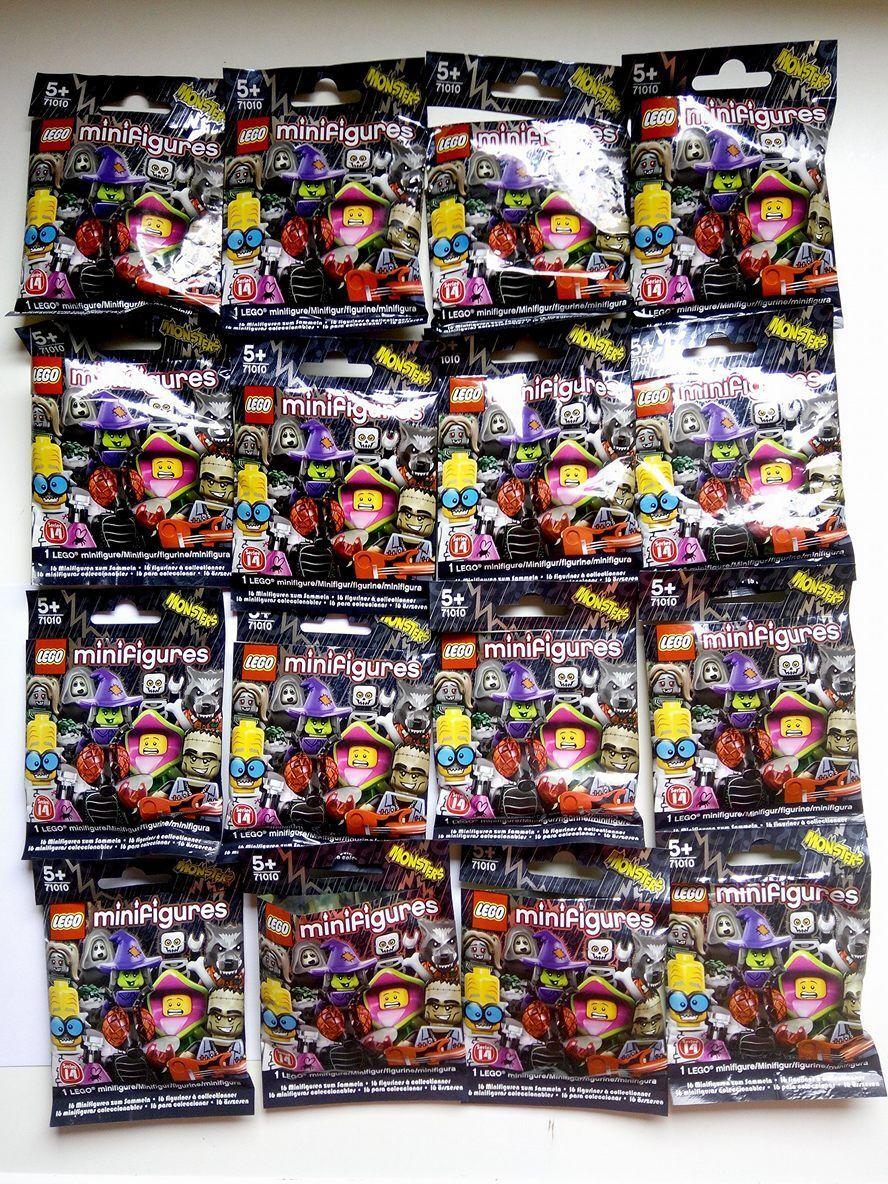 Lego 71010 Minifiguras Serie 14 monstruos Conjunto de 16 Piezas Completo Nuevo