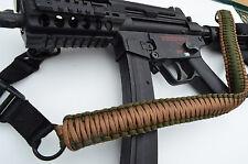 Tactical 550 Paracord Gun Rifle Crossbow Shotgun Sling 1 or 2 Point EARTH DRAB