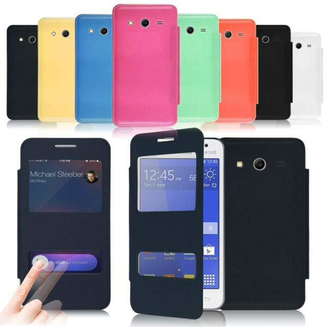 Cover For Samsung Galaxy Core II/2 SM-G355H Leather Batteries Case Skin