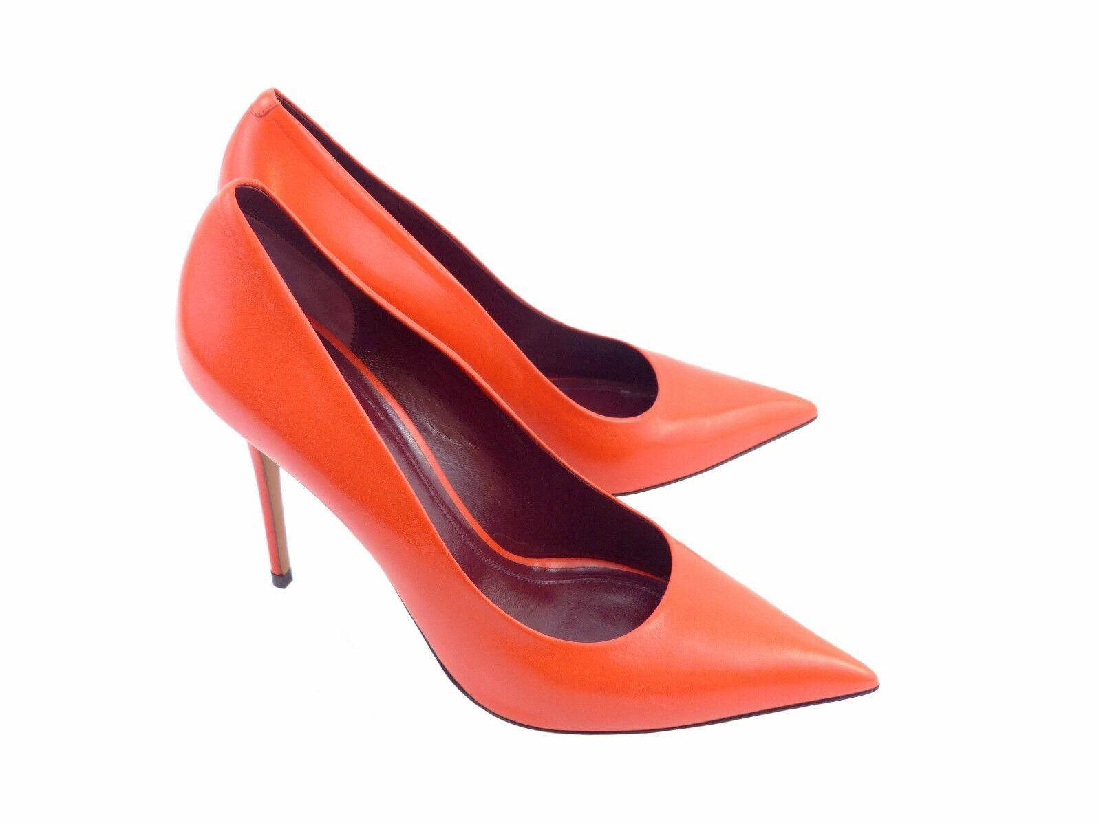 Céline Essentials Skinny talon pompe rouge rouge rouge coquelicot chevrette en Cuir d305dd