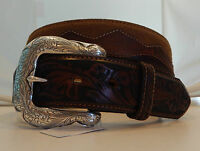 Justin The Rockies Leather Belt Size 36 C12865 11 Pics
